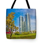 Modern Twin Tower In City Of Zagreb Tote Bag
