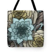 Modern Water Lily Tote Bag