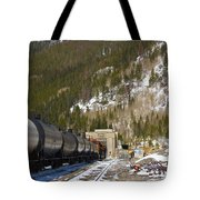 Moffat Tunnel East Portal At The Continental Divide In Colorado Tote Bag