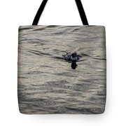 Moire Silk Water And A Long Tailed Duck Tote Bag
