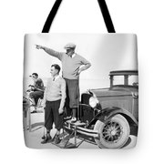 Mojave Desert Golf Course Tote Bag