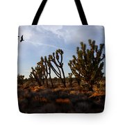 Mojave Desert Joshua Tree With Ravens Tote Bag