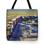 Mojave Desert Train By Diana Sainz Tote Bag
