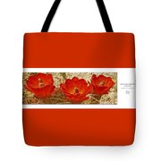 Mojave Mound Cactus Art Poster - California Collection Tote Bag