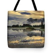 Molas Lake Sunrise With Scripture Tote Bag