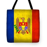 Moldova Flag Vintage Distressed Finish Tote Bag