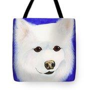 Molly The American Eskimo Dog Tote Bag