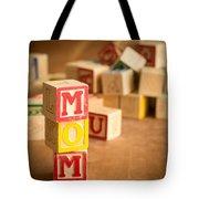 Mom Alphabet Blocks Tote Bag