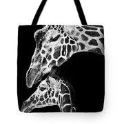 Mom And Baby Giraffe  Tote Bag by Adam Romanowicz