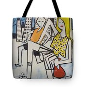 Mom And Son In Montreal Tote Bag