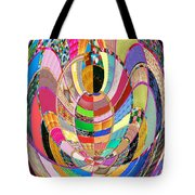 Mom Hugs Baby Crystal Stone Collage Layered In Small And Medium Sizes Variety Of Shades And Tones Fr Tote Bag