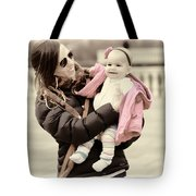 Mom Loves Baby Pink Tote Bag