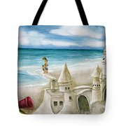 Mommy And Me Sandcastles Tote Bag