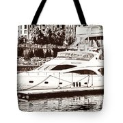 Momousse Yacht In Montreal Tote Bag