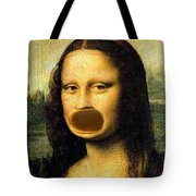 Mona Lisa At The Dentists Office    Open Wide Tote Bag