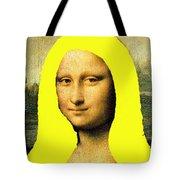 Mona Lisa Went To California Tote Bag