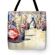 Monaco Gp 1961 Ferrari 156 Sharknose  Tote Bag