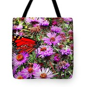 Monarch Among The Asters Tote Bag