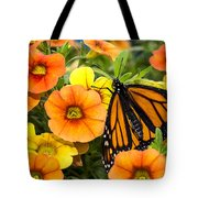 Monarch Among The Flowers Tote Bag