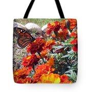 Monarch Among The Marigolds Tote Bag