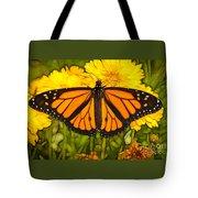 Monarch Batik Tote Bag