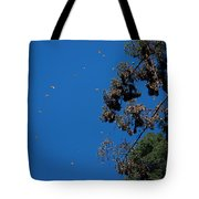 Monarch Butterflies Flying Tote Bag