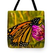 Monarch Butterfly On Flower Tote Bag