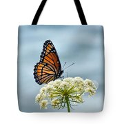 Monarch Butterfly On River Tote Bag
