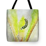 Monarch Caterpillar - Digital Watercolor Tote Bag