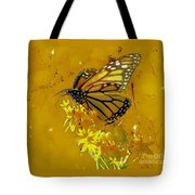 Monarch On Gold Tote Bag