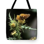 Monarch On Thistle Tote Bag