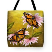 Monarchs And Coneflower Tote Bag