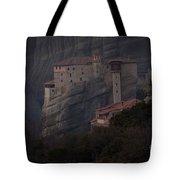 Monastary At Meteora  Greece   #9635 Tote Bag
