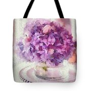 Monet Purple Pedestal Tote Bag