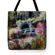 Monet's Bridge In Autumn Tote Bag