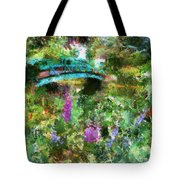 Monet's Bridge In Spring Tote Bag
