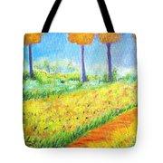 Monet's Garden Path Tote Bag