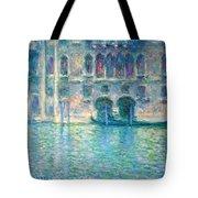 Monet's Palazzo De Mula In Venice Tote Bag