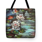 Monet's Pond With Lotus 1 Tote Bag