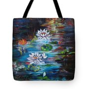 Monet's Pond With Lotus 11 Tote Bag