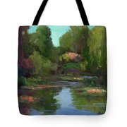 Monet's Water Lily Pond Tote Bag
