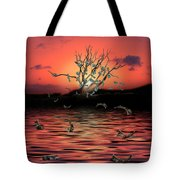 Money Tree Sunset Tote Bag