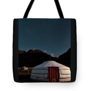 Mongolia By Starlight Tote Bag
