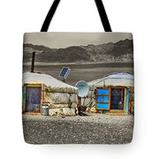 Mongolian Yurts Tote Bag
