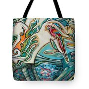 Monkey And Macaw Tote Bag
