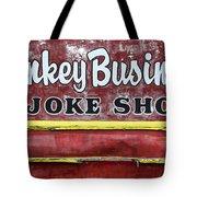 Monkey Business A Joke Shop Tote Bag