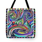 Monkey Dance Created Out Of Beads Of The Border Creative Digital Graphic Work Cartoon Comedy Backgro Tote Bag