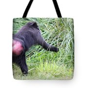 Monkey Showing Red Bottom Tote Bag