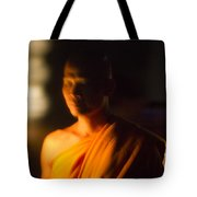 Monks At Yi Peng Tote Bag