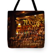 Monks Cafe Tote Bag by Rona Black